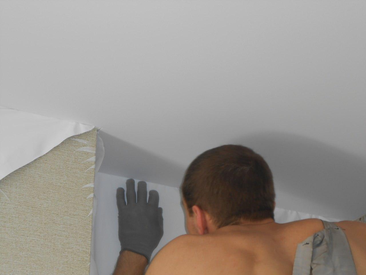 Тканевые бесшовные натяжные потолки своими руками