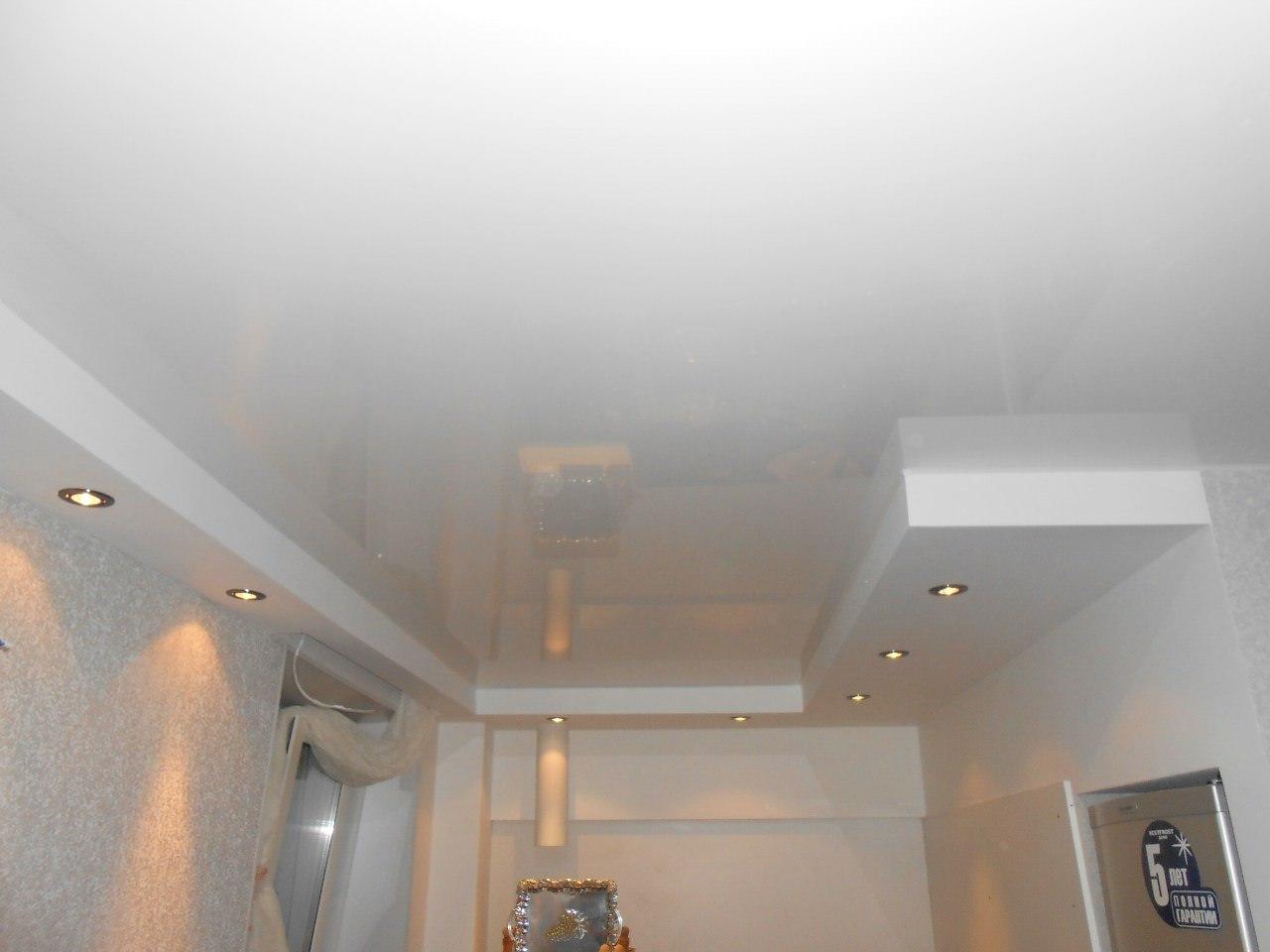 натяжные 2 уровневые потолки фото
